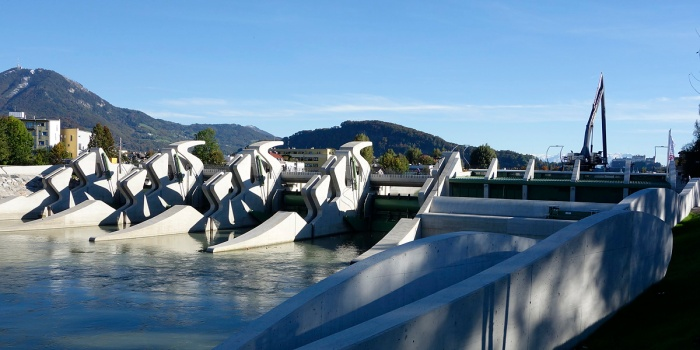 salzburger shilouetten wasserkraftwerk sohlstufe salzburg maxRIEDER, ErichWagner foto: michael hierner